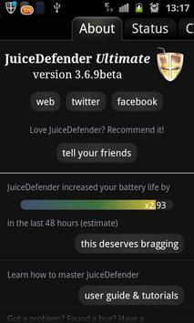 1 Schermata JuiceDefender