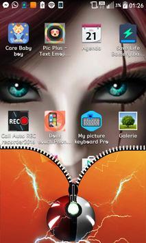 Great ball Zipper Screen Lock apk screenshot