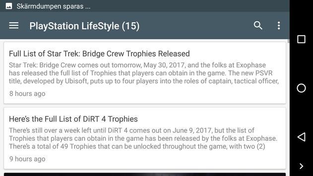Latest PSN news apk screenshot