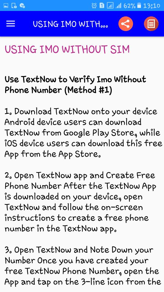 Guide For IMO, FREE Video and Group calls 2019 for Android