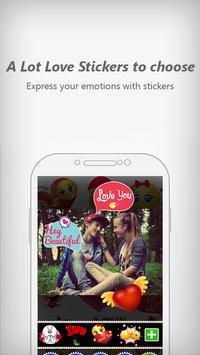 Love Stickers Photo Editor apk screenshot
