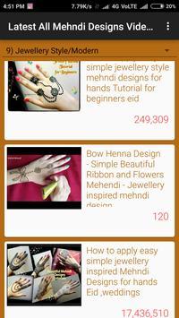 Latest All Mehndi Designs Video Tutorials screenshot 1