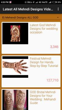 Latest All Mehndi Designs Video Tutorials screenshot 2