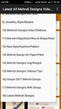 Latest All Mehndi Designs Video Tutorials screenshot 7