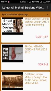 Latest All Mehndi Designs Video Tutorials screenshot 4
