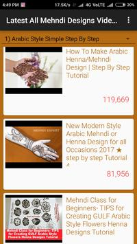 Latest All Mehndi Designs Video Tutorials screenshot 6