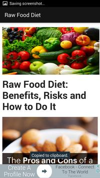 Raw Food Diet Guide poster