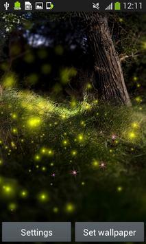 Fireflies Live Wallpapers poster