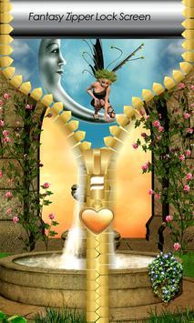 Fantasy Zipper Lock Screen poster