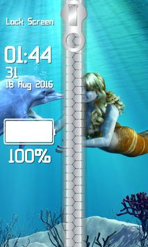 Mermaid Zipper Lock Screen screenshot 3