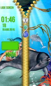 Mermaid Zipper Lock Screen screenshot 4