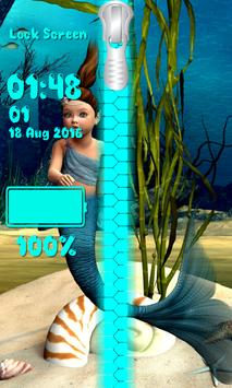 Mermaid Zipper Lock Screen screenshot 5