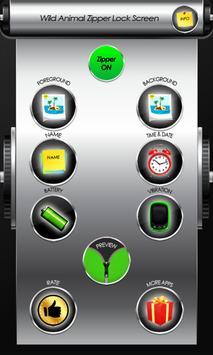 Wild Animal Zipper Lock Screen screenshot 1