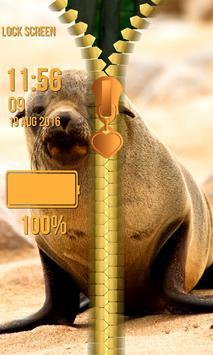 Wild Animal Zipper Lock Screen screenshot 4