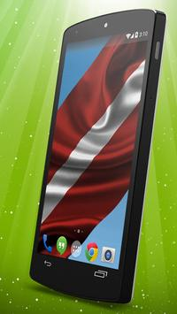 Latvian Flag Live Wallpaper apk screenshot