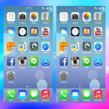 Launcher Theme for iPhone 8plus screenshot 1
