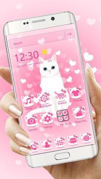 Pink kitty 3d live wallpaper theme screenshot 1