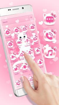 Pink kitty 3d live wallpaper theme screenshot 2
