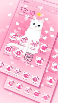 Pink kitty 3d live wallpaper theme screenshot 3