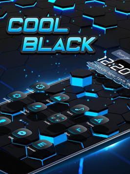3D Neon Tech Hexagon Theme poster