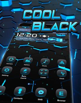 3D Neon Tech Hexagon Theme screenshot 1