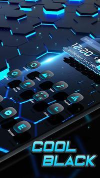 3D Neon Tech Hexagon Theme screenshot 2