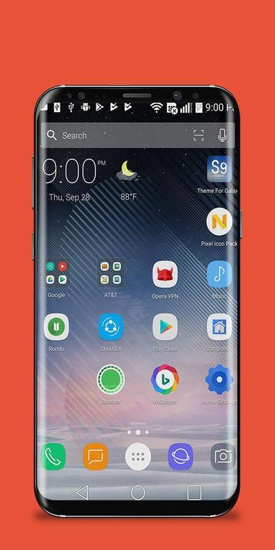 android launcher theme for samsung galaxy s9 edge apk. Black Bedroom Furniture Sets. Home Design Ideas