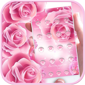 Pink Rose Launcher Theme icon
