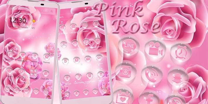 Pink Rose Launcher Theme poster
