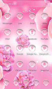 Pink Rose Launcher Theme apk screenshot