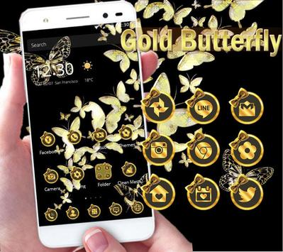 Gold butterfly Theme poster
