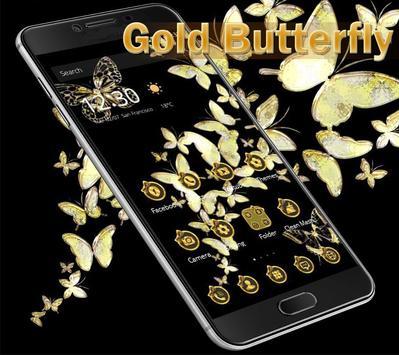 Gold butterfly Theme screenshot 1