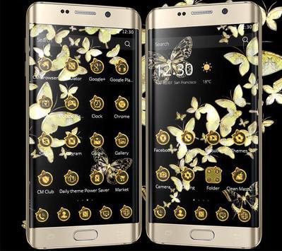 Gold butterfly Theme screenshot 5