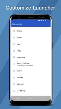 SS S8 Launcher for Galaxy S8 - Theme, Icon pack apk screenshot