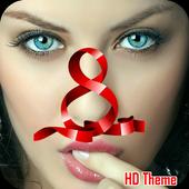 Launcher- Hot Girl Tema icon