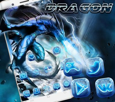 Ice Dragon Theme Wallpaper &Lock Screen poster
