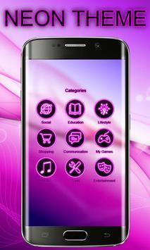 Neon Launcher Theme Free screenshot 2