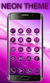 Neon Launcher Theme Free screenshot 5