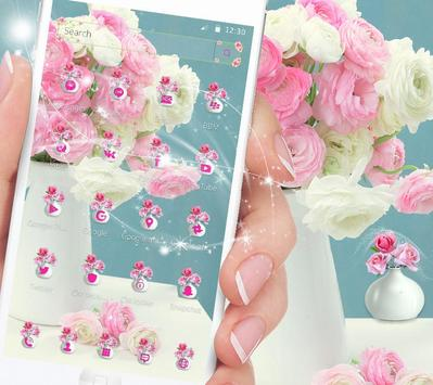Pink Rose Theme for Launcher Rose Love apk screenshot