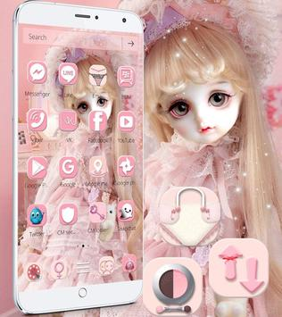 Cute Girl Theme Pink screenshot 1