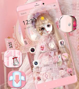 Cute Girl Theme Pink screenshot 2