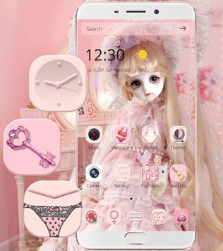 Cute Girl Theme Pink screenshot 3