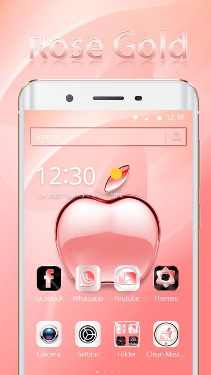 Rosa Oro Mela Tema Rose Gold Apple For Android Apk Download