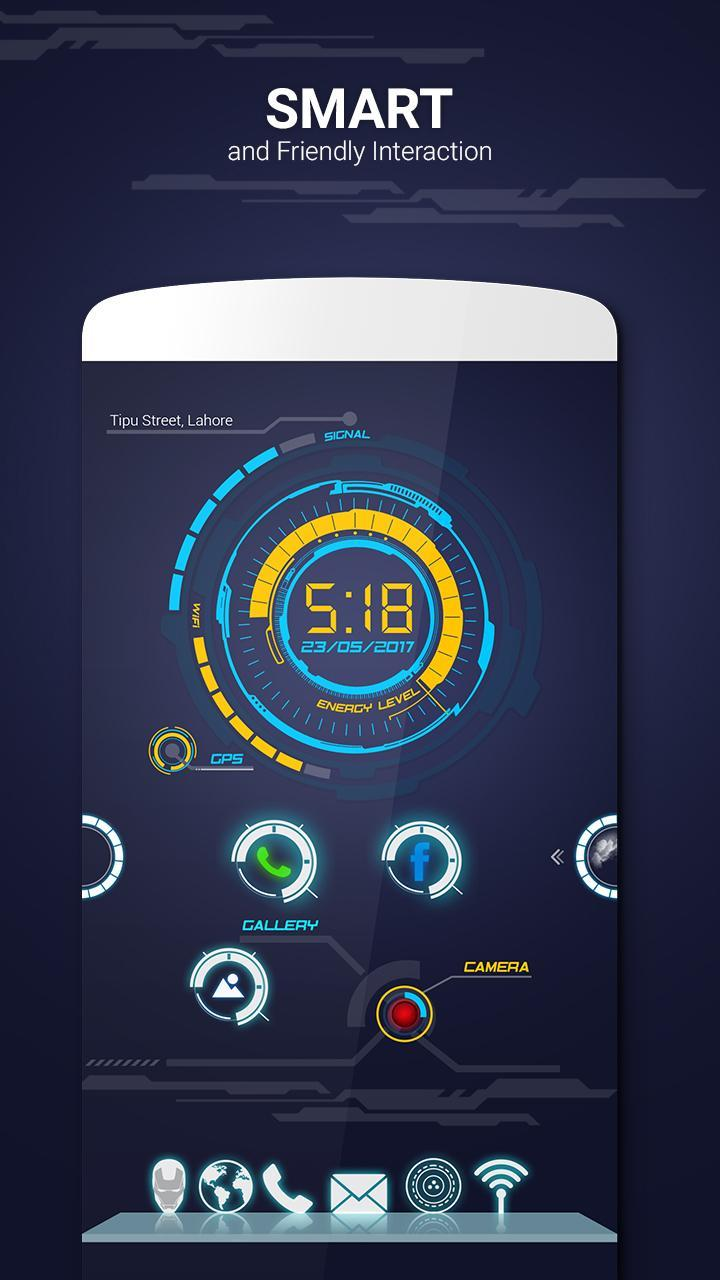 Sci fi Launcher Jarvis 2 Theme for Android - APK Download