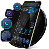 Cool Black Launcher Theme icon