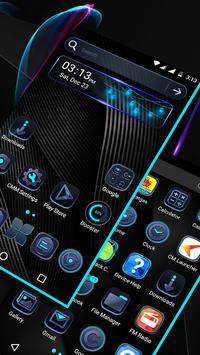 Cool Black Launcher Theme screenshot 1