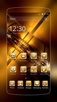 Golden business poster