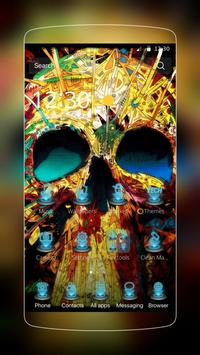 Colorful Skull Tech Hip-pop poster