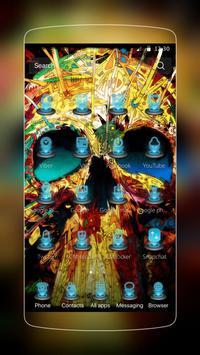 Colorful Skull Tech Hip-pop apk screenshot