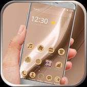 Golden silk luxury launcher icon